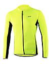 Arsuxeo Maillot de Cyclisme Homme Manches Longues Velo Maillot Bande reflechissante Sechage rapide Douceur Respirabilite 100 % Polyester