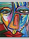 Peint a la main Celebre Personnage Portraits Abstraits Carre,Classique Un Panneau Toile Peinture a l\'huile Hang-peint For Decoration