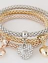 Dame Brățări cu Talismane Iubire bijuterii de lux European costum de bijuterii stil minimalist La modă Multistratificat Ștras Diamante