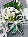 Flori de Nuntă Rotund Trandafiri Lavandă Butoniere Nuntă Petrecere / Seară Poliester Satin Mătase Organza
