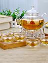 8 buc costum de familie atmosferic set de ceai de sticlă de divertisment ceainic
