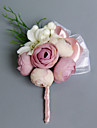 Flori de Nuntă Formă liberă Trandafiri Bujori Butoniere Nuntă Petrecere / Seară Satin
