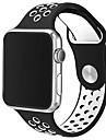Dubbelfärg med äpple klocka sport andas silikonband 42mm armband bara klocka ingår ej