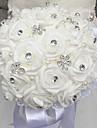 """Flori de Nuntă Rotund Trandafiri Buchete Nuntă Mărgea Spumă Ștras 11.8""""(Approx.30cm)"""