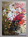 Peint a la main Abstrait Moderne/Contemporain Un Panneau Toile Peinture a l\'huile Hang-peint For Decoration d\'interieur