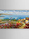Peint a la main Paysage Format Horizontal,Abstrait Un Panneau Toile Peinture a l\'huile Hang-peint For Decoration d\'interieur