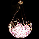 halpa Plafondit-6-Light kulho Riipus valot Tunnelmavalo - Kristalli, 220V / 110V / 20-30㎡