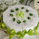 hesapli Pasta Kutuları-Piramit Kart Kağıdı Favor Tutucu ile Kurdeleler Çiçekli Hediye Kutuları
