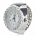 זול בובות-בגדי ריקוד נשים שעון טבעת Japanese שעונים יום יומיים סגסוגת להקה מדבקות עם נצנצים / אופנתי כסף