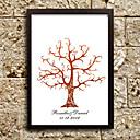 preiswerte Aufkleber, Etiketten und Schilder-personalisierte Fingerabdruck Malerei Leinwand Drucke - braun Baum (beinhaltet 6 Druckfarben, Rahmen nicht im Lieferumfang enthalten)