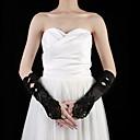 preiswerte Handschuhe für die Party-Satin Ellenbogen Länge Handschuh Party / Abendhandschuhe Mit Perlenstickerei