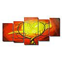 ieftine Picturi Abstracte-Pictat manual Abstract orice formă pânză Hang-pictate pictură în ulei Pagina de decorare Cinci Panouri