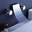 preiswerte Badewannen Armaturen-Badewannenarmaturen - Moderne Chrom Wandmontage Keramisches Ventil
