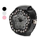 ieftine Ceasuri Damă-Pentru femei Quartz Ceas inel Japoneză imitație de diamant Aliaj Bandă Floare Negru / Alb / Pink
