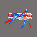 halpa Sukkanauhat häihin-Puuvilla Polyesteri Satiini Säären lämmittäjät Muoti Häät Häävaate - Valkoinen rusetti Pitsi Sukkanauhat Muuta Häät Juhlat