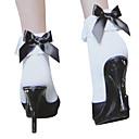 זול שמלות לוליטה-נסיכות בגדי ריקוד נשים לוליטה מתוקה גרביים וגרביונים שחור לבן סרט פרפר לוליטה אביזרים