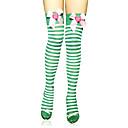 hesapli Uzun Çorap-Çoraplar Uyluk Yüksekliğinde Çoraplar Sweet Lolita Lolita Sweet Lolita Lolita Kadın's Çizgili Çizgi Uzun Çorap Naylon Cadılar Bayramı Kostümleri / Yüksek Elastikiyet