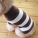 رخيصةأون حلقات الأذن-قط كلب البلوزات ملابس الكلاب مخطط قطن كوستيوم للحيوانات الأليفة للرجال للمرأة الدفء موضة