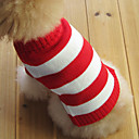 cheap Stuffed Animals-Cat Dog Sweater Dog Clothes Stripe Red Cotton Costume For Pets Men's Women's Fashion Christmas