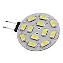 halpa LED-spottivalaisimet-1.5 W LED-kohdevalaisimet 150-200 lm G4 12 LED-helmet SMD 5730 Neutraali valkoinen 12 V / #