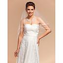 cheap Wedding Veils-One-tier Pencil Edge Wedding Veil Elbow Veils 53 59.06 in (150cm) Tulle A-line, Ball Gown, Princess, Sheath/ Column, Trumpet/ Mermaid