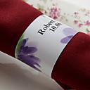 hesapli Düğün Hediyeleri-Düğün Peçeteler - 50pcs Peçete Yüzükleri Düğün Yıldönümü Doğumgünü Nişan Partisi Çeyiz Görme Gençlik Partisi Çiçek Teması