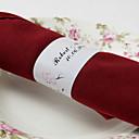 halpa Hääservetit-Häät Napkins - 50pcs Servet Ring Häät Vuosipäivä Syntymäpäivä Kihlajaisjuhla Polttarit Quinceañera & Sweet Sixteen Kukkais-teema