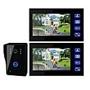 رخيصةأون أنظمة انترفون الباب-7 بوصة TFT LCD الفيديو باب مع مفتاح اتصال (1 كاميرا مع مراقبي 2)