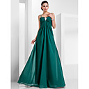 cheap Wedding Wraps-A-Line Spaghetti Strap Floor Length Chiffon Formal Evening Dress with Crystal Brooch by TS Couture®