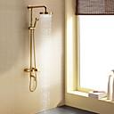 billiga Animekostymer-Duschkran - Nutida Ti-PVD Duschsystem Keramisk Ventil Bath Shower Mixer Taps / Enda handtag tre hål