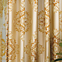 cheap Towel Bars-Two Panels Curtain European Neoclassical Bedroom Polyester Material Curtains Drapes Home Decoration For Window