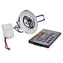halpa Upotettavat LED-valot-180lm Kattovalaisimet Upotettu jälkiasennus 1 LED-helmet Teho-LED Kauko-ohjattava RGB 85-265V