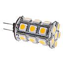 abordables Luces LED de 2 Pin-3000lm G4 Bombillas LED de Mazorca T 24 Cuentas LED SMD 5050 Blanco Cálido 12V