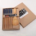 رخيصةأون ضيافة عملية-بسيطة الخيزران أدوات المائدة يقع في علبة هدية (أكثر الألوان)