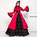 رخيصةأون Lolita باروكات-فيكتوريا / العصور الوسطى كوستيوم للمرأة فساتين / أزياء الحفلة / حفلة تنكرية عتيقة تأثيري دانتيل / ستان / قطن كم طويل شاعر طويل كوستيوم هالوين