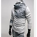 tanie Baterie łazienkowe-Męskie Podstawowy Długi rękaw Szczupła Bluza z Kapturem - Solidne kolory Kaptur
