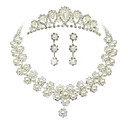 cheap Jewelry Sets-Women's Rhinestone / Imitation Pearl Jewelry Set - Others Pearl White