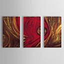 halpa Öljymaalaukset-Maalattu Abstrakti Horizontal Kangas Hang-Painted öljymaalaus Kodinsisustus 3 paneeli
