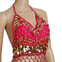 cheap Dance Accessories-Belly Dance Tops Women's Training Chiffon Beading / Coin Sleeveless / Ballroom