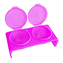 preiswerte Kleideruhr-Doppel-Loch-Rose Plastic Acrylic Nails Art tränken Schüssel Werkzeug