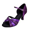baratos Clutches & Bolsas de Noite-Mulheres Sapatos de Dança Latina Tecido elástico Salto Salto Personalizado Personalizável Sapatos de Dança Púrpura / Couro