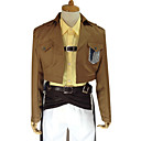 cheap Anime Costumes-Inspired by Attack on Titan Zoe Hange Anime Cosplay Costumes Cosplay Suits Solid Colored Long Sleeve Coat / Shirt / Pants For Women's