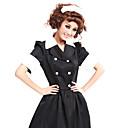 billiga Sexiga uniformer-Cosplay Kostymer / Dräkter Tjänsteflicka Uniform Festival / högtid Polyester Cotton outfits Lappverk