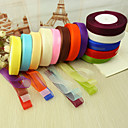 cheap Wedding Ribbons-Solid Colored Luxury Organza Wedding Ribbons Piece/Set Organza Ribbon Wedding Accessories Wedding Party Decoration