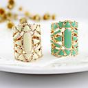 זול סט תכשיטים-בגדי ריקוד נשים טבעת הצהרה - אקרילי, סגסוגת אופנתי 7 לבן / שחור / ירוק עבור יומי