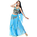 cheap Belly Dance Wear-Belly Dance Outfits Women's Chiffon Beading / Sequin / Coin Natural / Performance