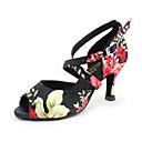 povoljno Cipele za latino plesove-Žene Plesne cipele Saten Cipele za latino plesove / Cipele za salsu / Plesni nastup Štikle Potpetica po mjeri Moguće personalizirati Multi Color