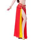 cheap Dance Accessories-Belly Dance Skirt Women's Training / Performance Chiffon Tier / Split Front Skirt / Ballroom