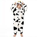 hesapli Pratik Hediyelikler-Çocuklar için Kigurumi Pijama Süt İneği Onesie Pijama Fanila Tüylü Kumaş Siyah / Beyaz Cosplay İçin Erkek ve kızlar Hayvan Sleepwear Karikatür cadılar bayramı Festival / Tatil