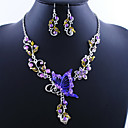 cheap Jewelry Sets-Women's Jewelry Set - Butterfly Vintage, European Include Drop Earrings / Pendant Necklace Green / Blue / Pink For Party / Special Occasion / Birthday / Engagement / Gift / Daily